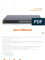 Active500EM Wired Web User Interface Manual