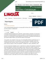 A analogia na política | Revista Língua Portuguesa
