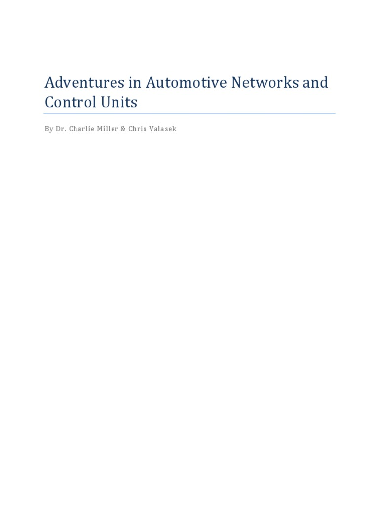Car Hacking | Network Packet | Areas Of Computer Science