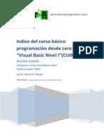 CU00302A Indice Curso Basico Programacion Visual Basic Desde Cero