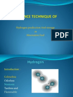 Advance Technique of H2 Production & Storages ppt