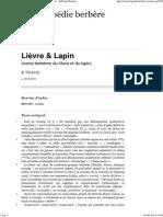 Lapin Et Lievre en Tamazight