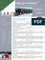 Dépliant publicitaire Activités Mercredis PM Bloc 2 2e et 3e cycle 2013 2014