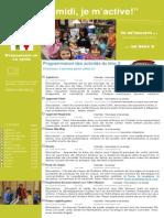 Dépliant publicitaire Activités Mercredis PM Bloc 2 Préscolaire et 1e cycle 2013 2014