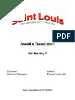 Assoli & Trascrizioni- Pietro Lorenzotti