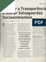 Transparência e Salvaguardas - BNDES e TCU