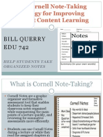 cornell note-taking strategy power point for porfolio