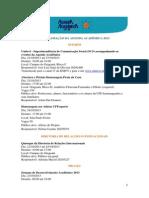 Agenda Academica 2013 Programacao