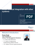 2013 OHSUG - Siebel Clinical Integration with Other Systems