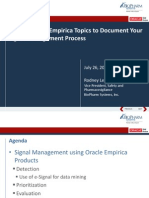 2013 OHSUG - Using Oracle's Empirica Topics to Document Your Signal Management Process