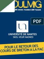 Koulmig 25 - Pour le retour du breton à la fac de Nantes