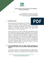11 - La Declaratoria de Nulidad Del Acto Juridico Por El Juez Penal - Luis Del Carpio Narvaez