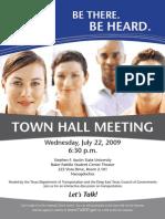 Nacog Town Hall Flyer