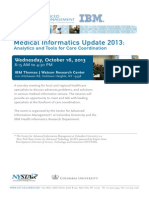 Medical Informatics Update 2013 Program