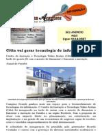 Citta vai gerar tecnologia de informação