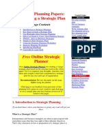 Business Planning Papers 1