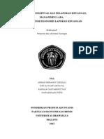 Makalah Kelp 1 Kerangka Koneptual Dan Pelaporan Keuangan, Manajemen Laba, Konsekuensi Ekonomis Laporan Keuangan