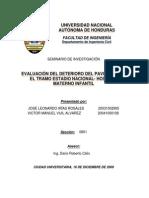 Evaluación del Deterioro del Pavimento, Estadio Nacional - Hospital Escuela