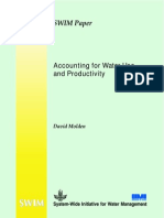 Accounting for Water Use and Productivity