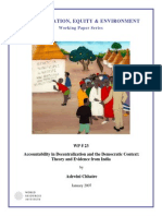 Accountability in Decentralization and the Democratic Context