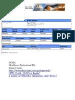 DORA Links to Lynne Fenton