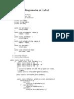 Programacion en CAPAS