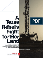 A Texas Rebel's Fight for Her Land  By SUZANNA ANDREWS  More Magazine Sept. 2103