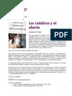 Los católicos y el aborto