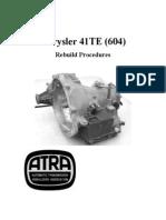 ATRA 41TE Rebuild (Chrysler a 604)
