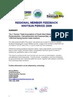 Whitsun Regional Feedback Summary Survey Doc - Newsletter