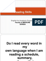 Introduction to Reading Skills
