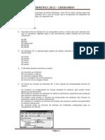 40 Questões Informática - CEF 2012 BB 2012