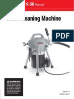 Manual K50 Sectional Machine Man