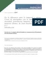 Diferencia Entre Lo Temporal y Eterno en La Obra de Juan Nieremberg