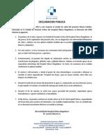 Declaración Pública Hospital Punta Arenas