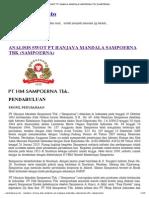 Analisis Swot Pt Hanjaya Mandala Sampoerna Tbk (Sampoerna)