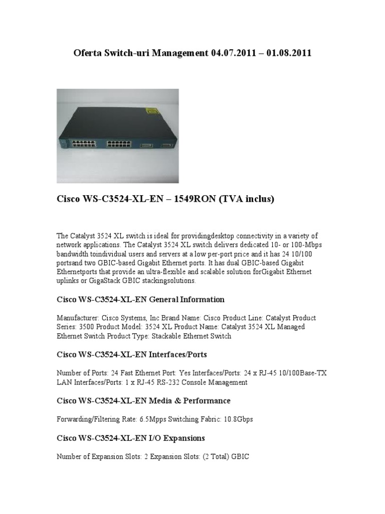 Switch Management doc | Network Switch | Ethernet