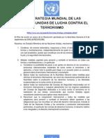 ONU - Estrategia de Lucha Contra El Terrorismo 2006