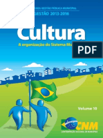 10. Cultura - A organização do Sistema Municipal de Cultura