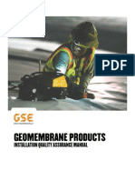 Geomembrane Installation Quality Assurance Manual
