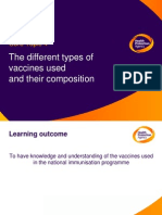Core Topic 4 - The Different Types of Vaccines Used and Their Composition- March 2009