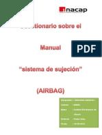descripción del módulo del airbag del lado del conductor y el resorte de reloj
