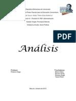 Analisis de Socio Politica Alba