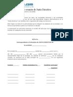 Acta Junta Directiva