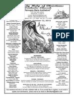 Parish Bulletin for October 12, 2013