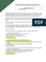 Examen Auditores Univalle BPM HACCP