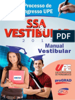 Manual Do Vestibular  da upe 2013 Tradicional