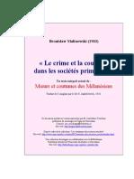 Crime Et Coutume