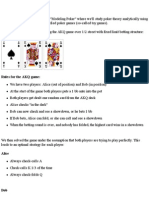 Modeling Poker -2part
