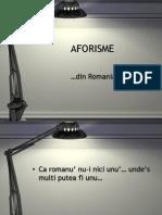 Aforisme Din Rominia